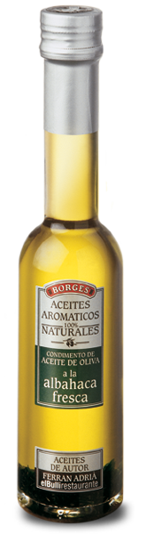 AROMATIC OLIVE OIL WITH FRESH BASIL - Aceite aromático de albahaca Borges