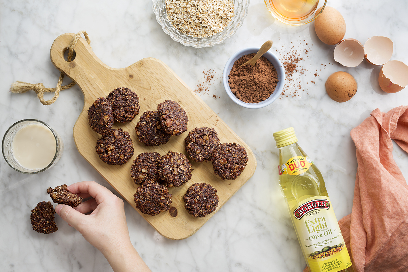 Healthy chocolate cookies… as easy as ABC!